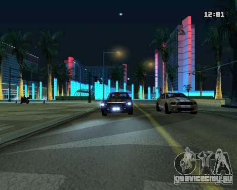 Shelby GT500 Eleanor для GTA San Andreas вид сзади