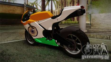 GTA 5 Bati Indian для GTA San Andreas вид слева