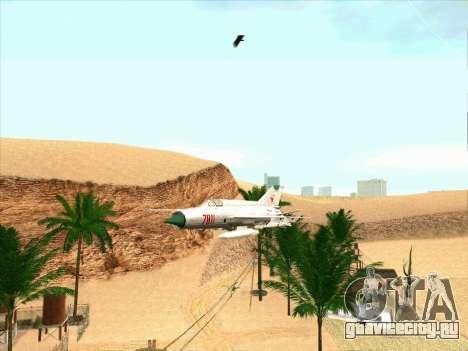 МиГ 21 для GTA San Andreas вид слева