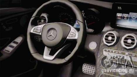 Mercedes-Benz C250 AMG Edition 2014 EU Plate для GTA San Andreas вид справа