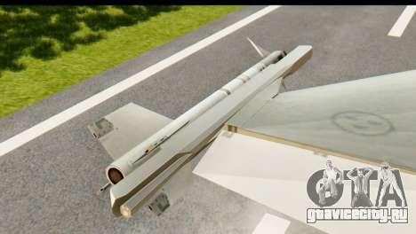 Saab Gripen NG для GTA San Andreas вид справа