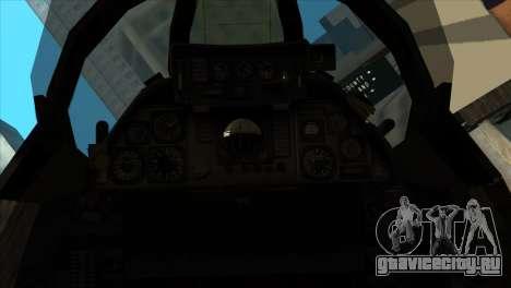 F-14 Black Storm для GTA San Andreas вид сзади