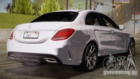 Mercedes-Benz C250 AMG Edition 2014 EU Plate для GTA San Andreas вид слева