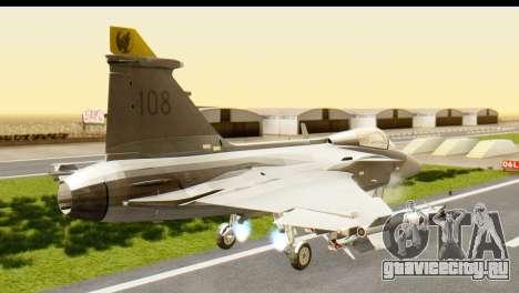 Saab Gripen NG для GTA San Andreas вид слева