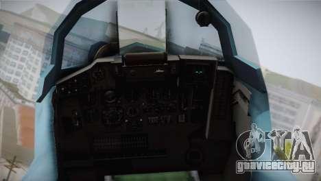MIG-29 Russian Falcon для GTA San Andreas вид сзади