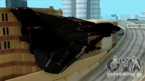 F-14 Black Storm для GTA San Andreas вид слева