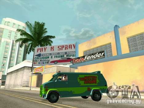 GMC The A-Team Van для GTA San Andreas колёса
