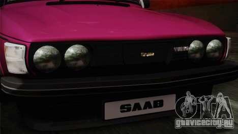 Saab 99 Turbo Stance для GTA San Andreas вид сзади