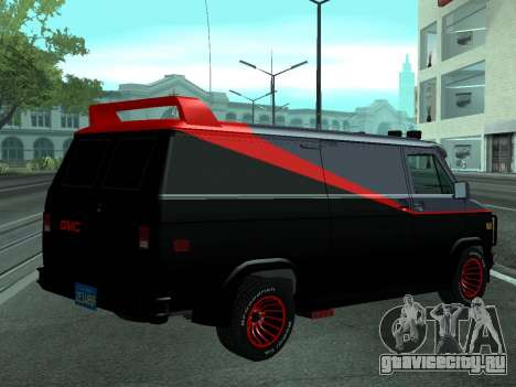 GMC The A-Team Van для GTA San Andreas вид слева