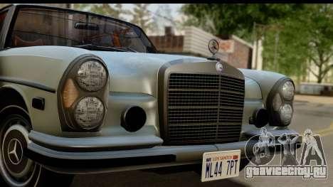 Mercedes-Benz 300 SEL 6.3 (W109) 1967 IVF АПП для GTA San Andreas вид сзади слева