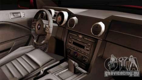 Ford Mustang GT PJ Wheels 2 для GTA San Andreas вид справа