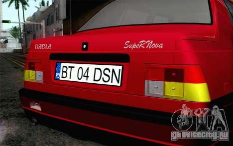 Dacia SuperNova для GTA San Andreas вид сзади