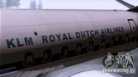 L-188 Electra KLM v2 для GTA San Andreas вид сзади