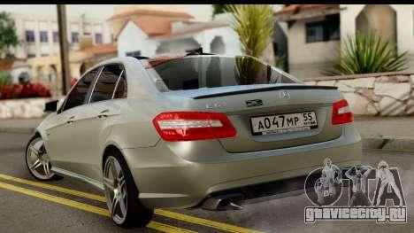 Mercedes-Benz E63 AMG для GTA San Andreas вид слева