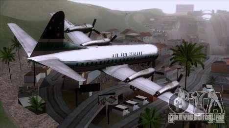 L-188 Electra Air New Zealand для GTA San Andreas вид слева