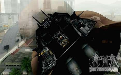 F-16C Fighting Falcon NSAWC Brown для GTA San Andreas вид сзади