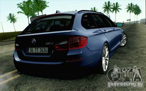 BMW 530d F11 Facelift HQLM для GTA San Andreas вид слева