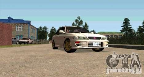 Subaru Impreza Sports Wagon WRX STI для GTA San Andreas вид изнутри