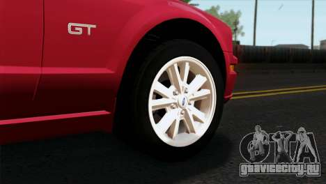 Ford Mustang GT PJ Wheels 2 для GTA San Andreas вид сзади слева
