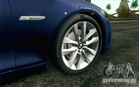 BMW 530d F11 Facelift HQLM для GTA San Andreas вид сзади слева