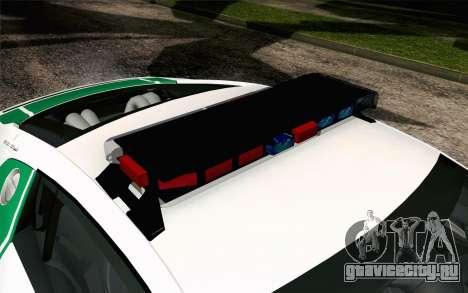 Audi R8 V8 FSI 2014 Dubai Police для GTA San Andreas вид сзади