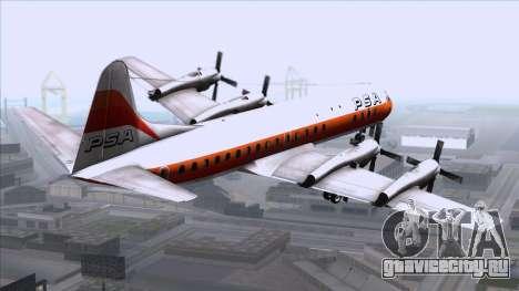 L-188 Electra PSA для GTA San Andreas вид слева