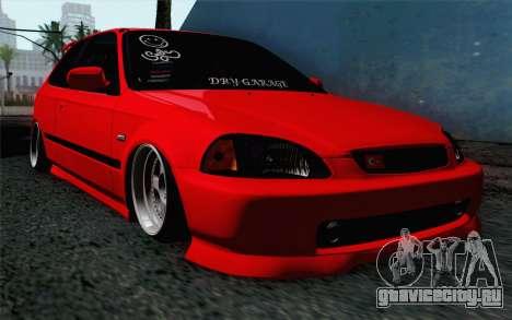 Honda Civic DRY Garage для GTA San Andreas