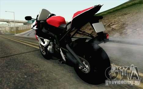 BMW S1000RR HP4 v2 Red для GTA San Andreas вид слева