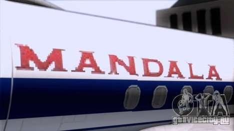 L-188 Electra Mandala Airlines для GTA San Andreas вид сзади
