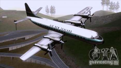 L-188 Electra Air New Zealand для GTA San Andreas