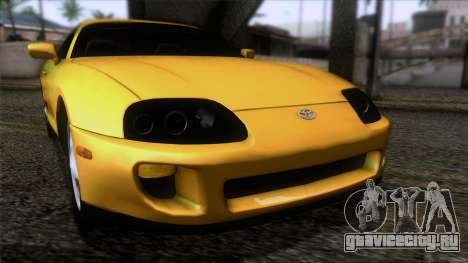 Toyota Supra US-Spec (JZA80) 1993 IVF АПП для GTA San Andreas вид сзади