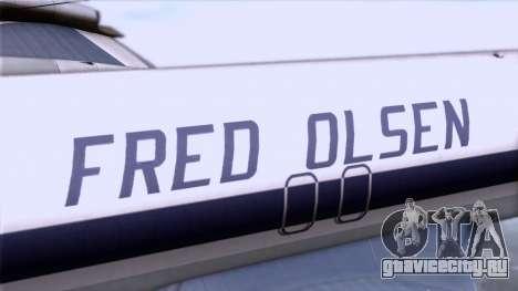 L-188 Electra Fled Olsen для GTA San Andreas вид справа
