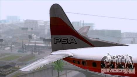 L-188 Electra PSA для GTA San Andreas вид сзади слева