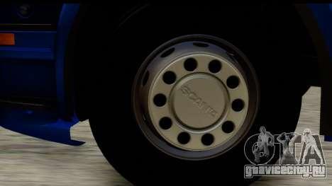 Scania G 4х6 для GTA San Andreas вид сзади