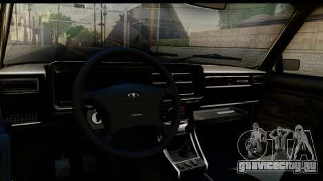 ВАЗ 21074 для GTA San Andreas вид изнутри