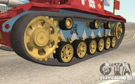 StuG III Ausf. G Girls and Panzer Color Camo для GTA San Andreas вид сзади