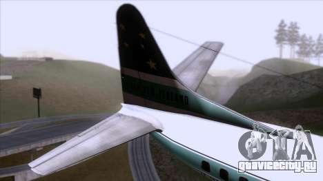 L-188 Electra Air New Zealand для GTA San Andreas вид сзади слева