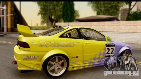Acura Integra Type R 2001 для GTA San Andreas вид сзади