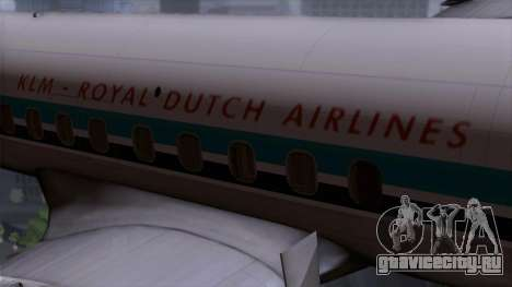 L-188 Electra KLM v1 для GTA San Andreas вид сзади