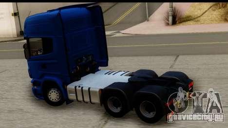 Scania G 4х6 для GTA San Andreas вид справа