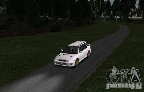 Subaru Impreza Sports Wagon WRX STI для GTA San Andreas вид сзади
