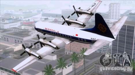 L-188 Electra Mandala Airlines для GTA San Andreas вид слева