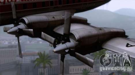 L-188 Electra Garuda Indonesia для GTA San Andreas вид сзади