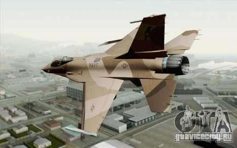 F-16C Fighting Falcon NSAWC Brown для GTA San Andreas вид слева