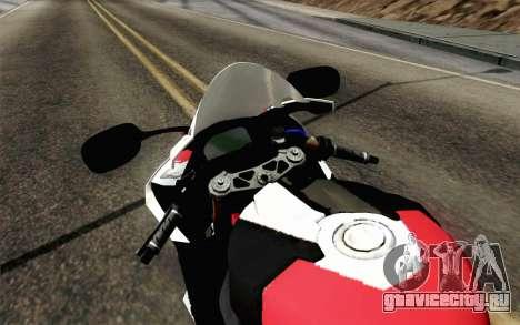 BMW S1000RR HP4 v2 Red для GTA San Andreas вид справа