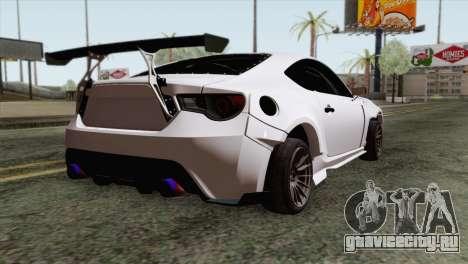 Subaru BRZ для GTA San Andreas вид слева