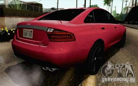 GTA 5 Obey Tailgater v2 SA Style для GTA San Andreas вид слева