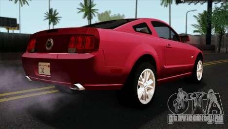 Ford Mustang GT PJ Wheels 2 для GTA San Andreas вид слева