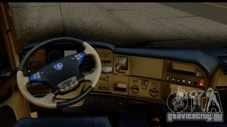 Scania G 4х6 для GTA San Andreas вид изнутри