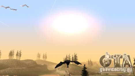 Возможность играть за птицу v2 для GTA San Andreas шестой скриншот
